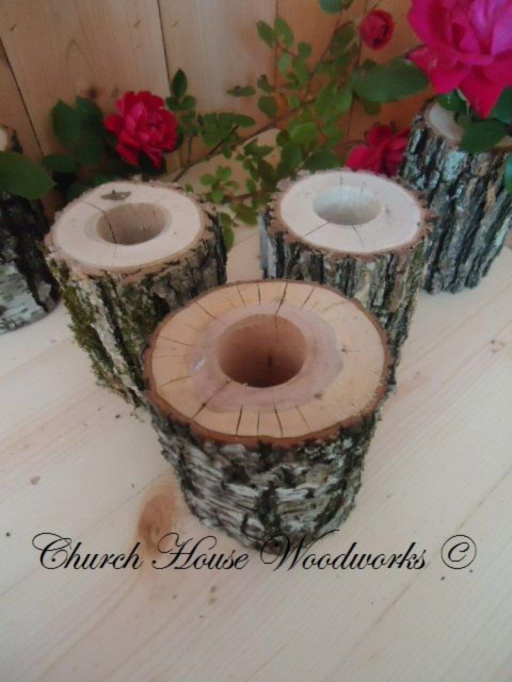 12 ideas to make vases with logs and wood slabs decoration 3 have you had the chance to find a log eaten by carpenter ants make a beautiful vase by drilling a hole on the top with a hole saw reviewsmspy