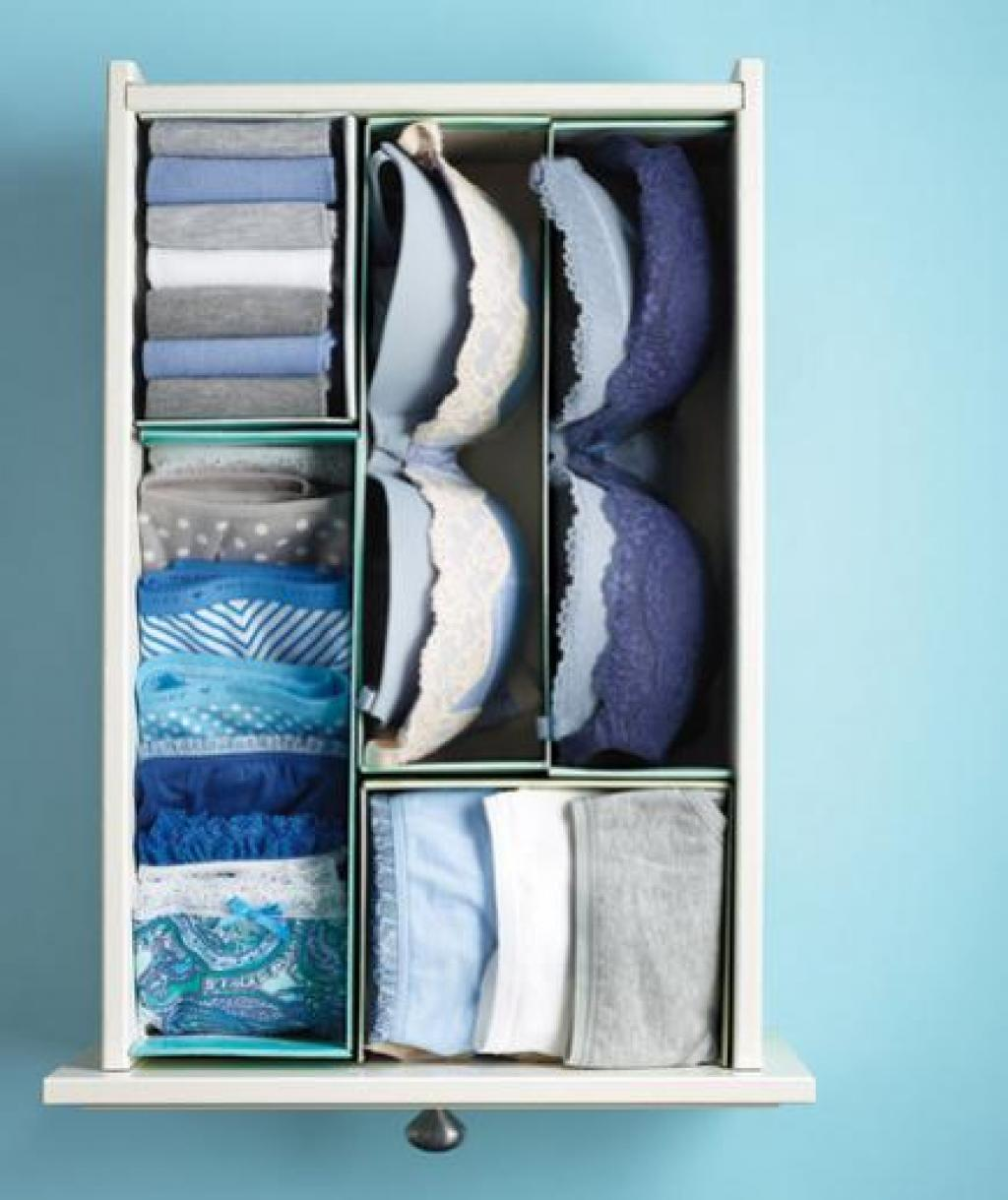 Discover All The Wonderful Things You Can Do With A Simple Shoebox Wiring House Cut Your Shoeboxes Into Pieces And Place Them In Drawer To Organize Bras Underwear As Pie But Very Effective