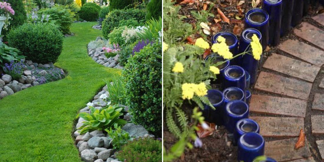 10 splendid ideas to decorate your flowerbeds in the garden