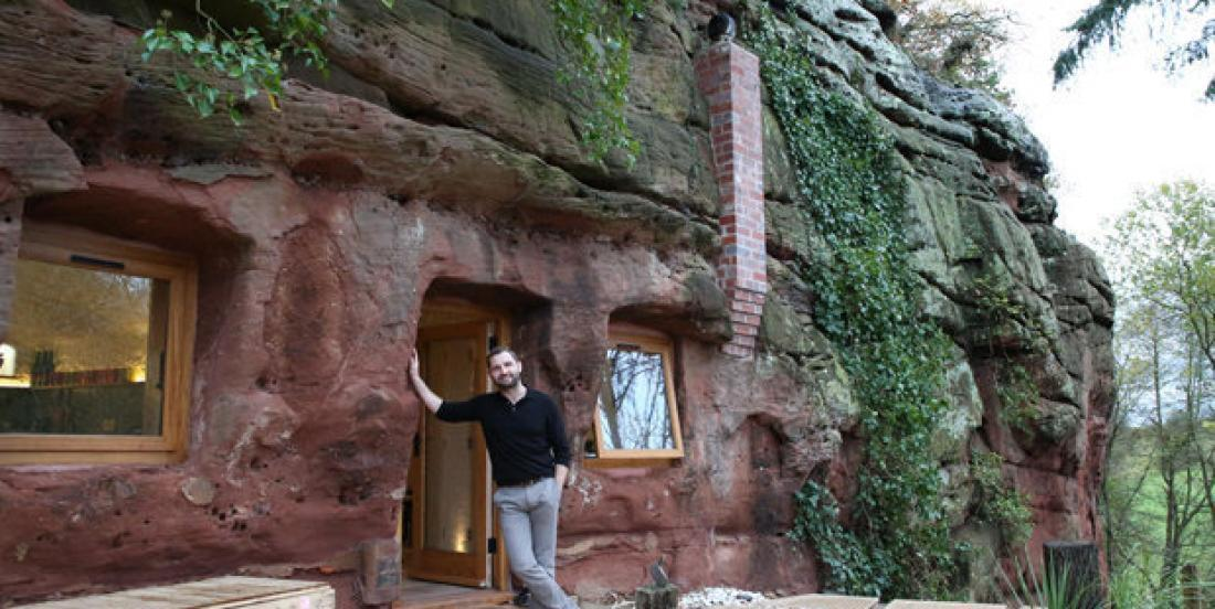 Would you live in this house built in a cave?