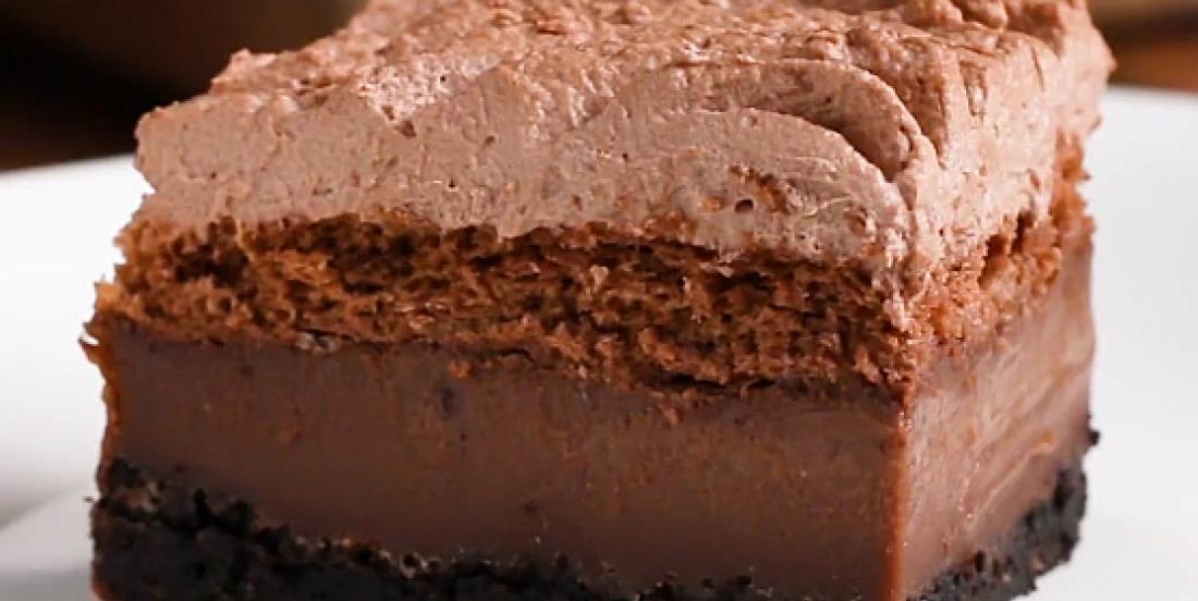 Amazing 4-in-1 chocolate cake recipe