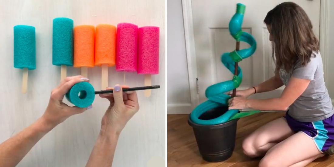 8 fun projects made with pool noodles!