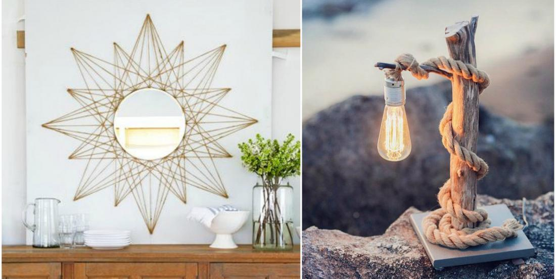 14 original ways to transform objects with rope to create a beautiful and warm decor