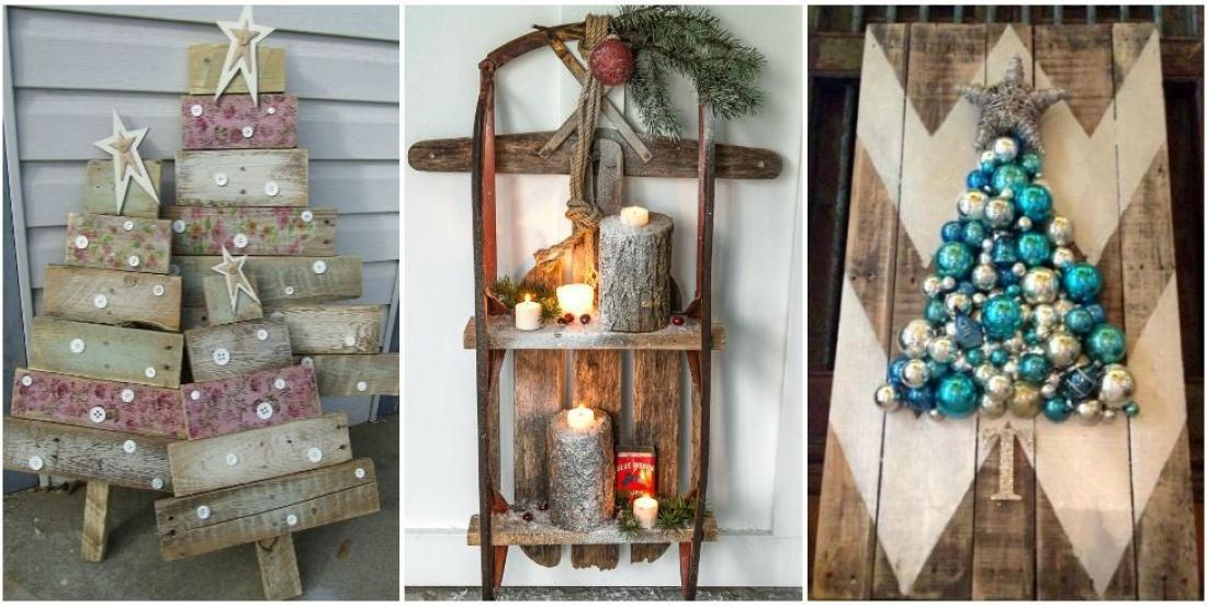 12 Christmas decorations easy to make with wooden pallets