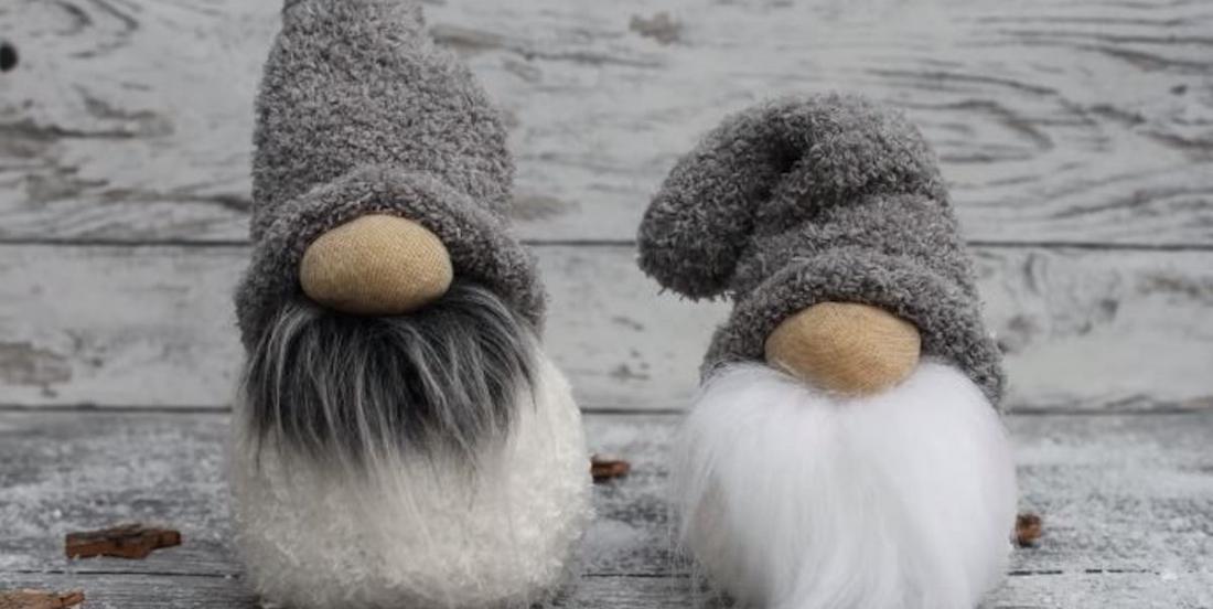 Learn how to make charming Christmas Gnomes using regular socks