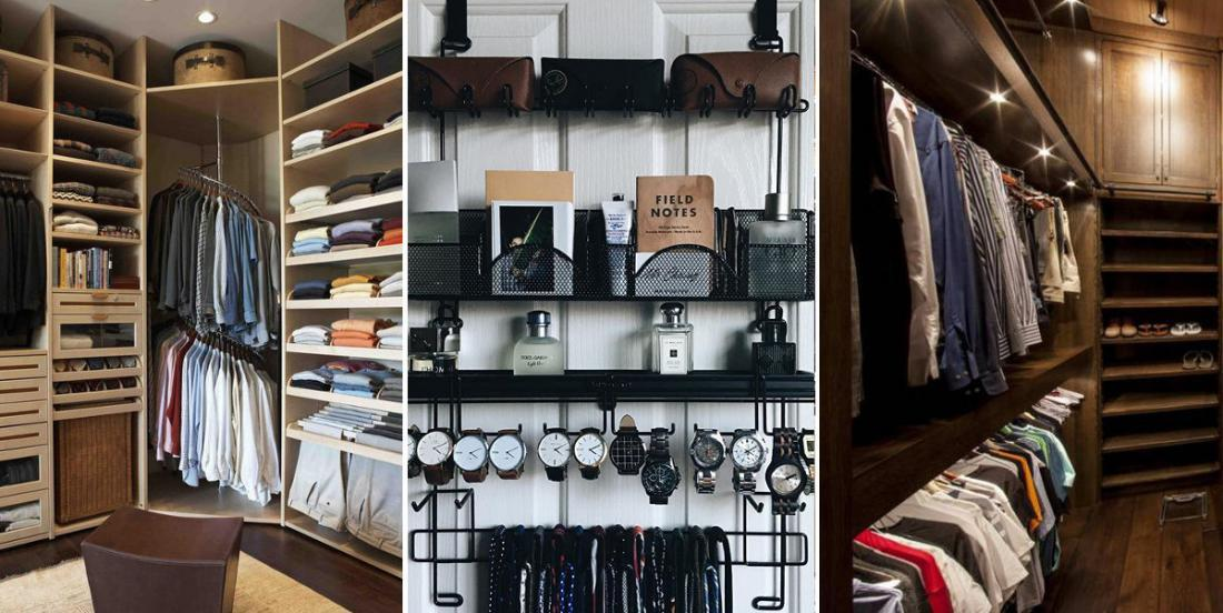 10 men's walk-in closet ideas