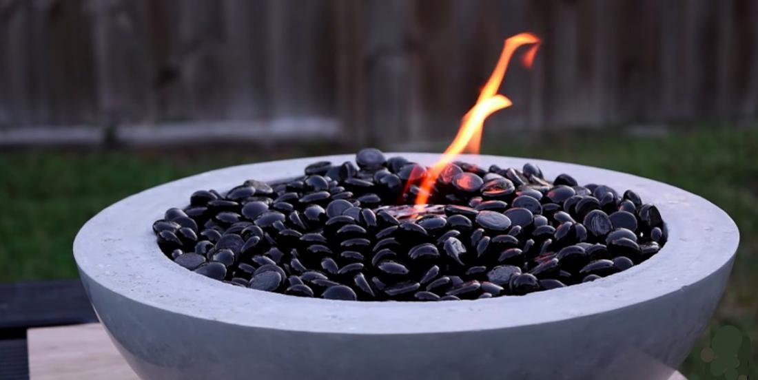 Learn how to make a beautiful fire pit in less than 3 hours!