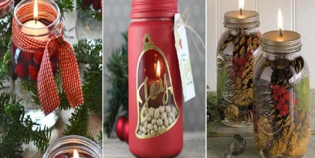 Transform your mason jars for the holiday season: 10 ideas to realize by yourself