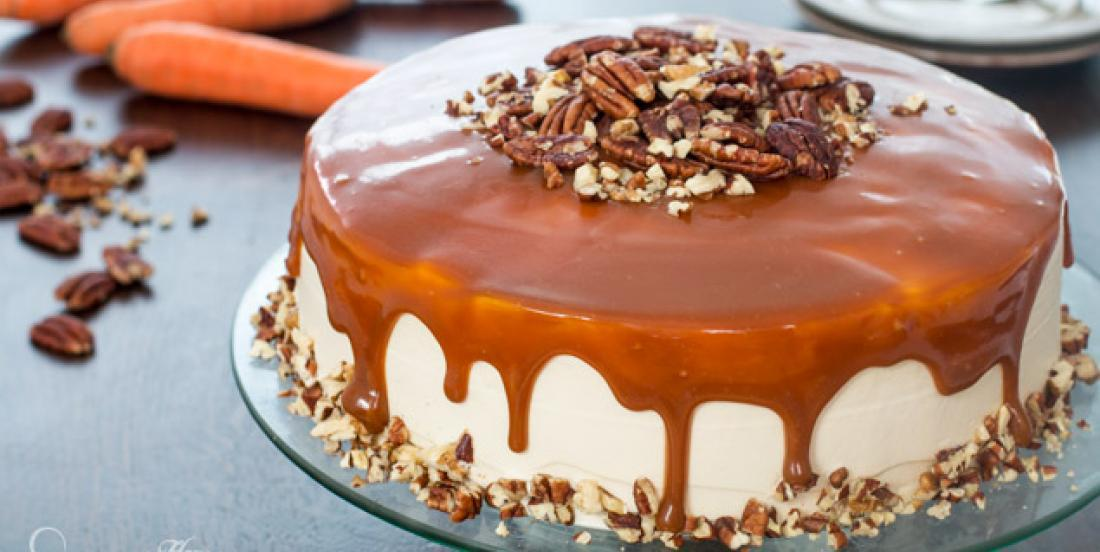 Delicious caramel and carrot cake recipe