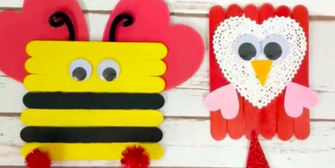6 Valentine's Day crafts to do with wooden sticks