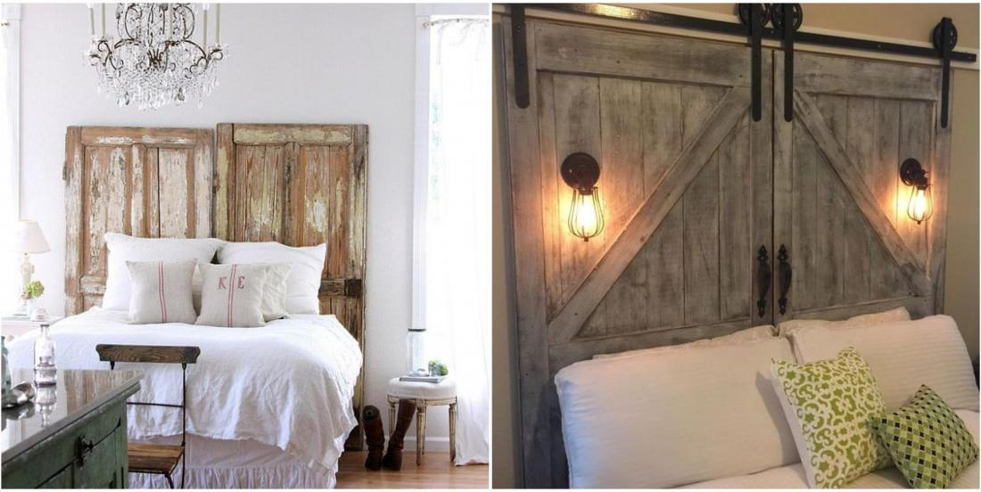 10 ideas to inspire you to make a headboard with old materials