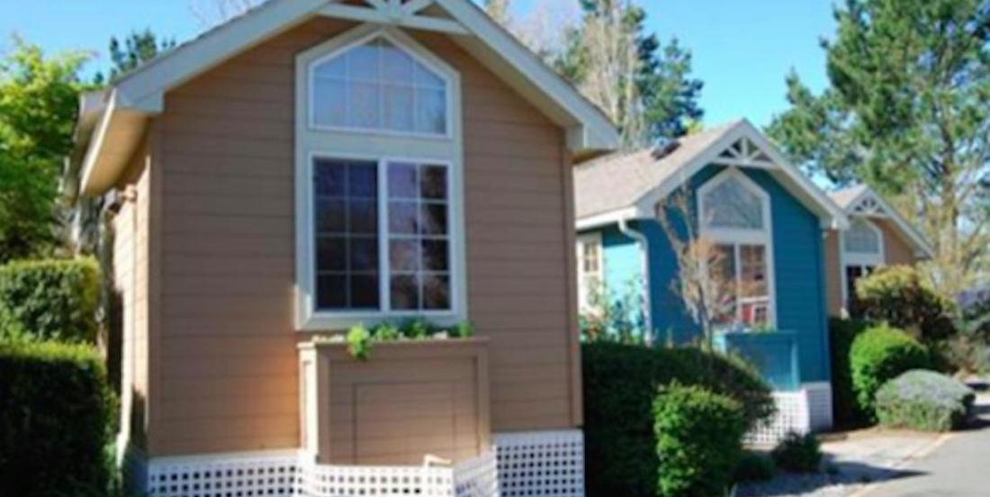 A house in the garden for grandma, a nice alternative to nursing home