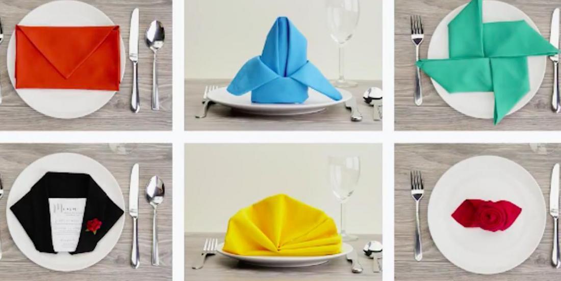 12 very original and surprising ways to fold table napkins