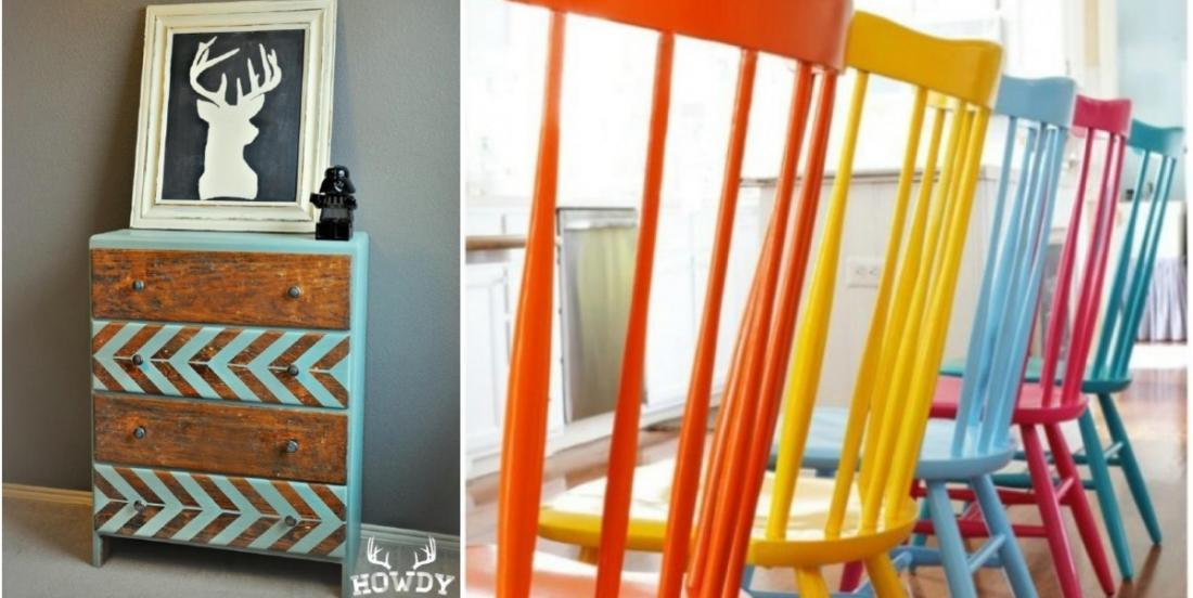 Here are 20 great ideas to transform all your old furniture