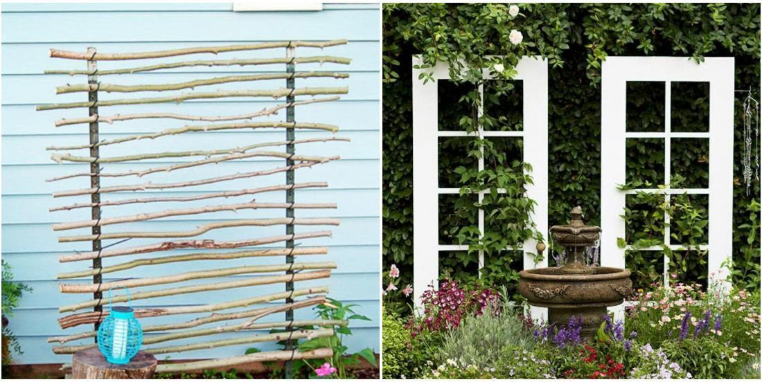 32 original ways to create a garden trellis with materials you have on hand