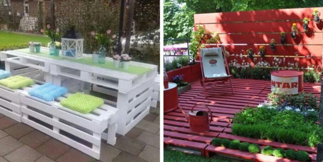 20 ideas to decorate your garden with wooden pallets