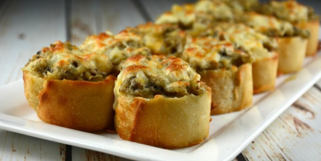 Crunchy Mushroom and Cheese Bites