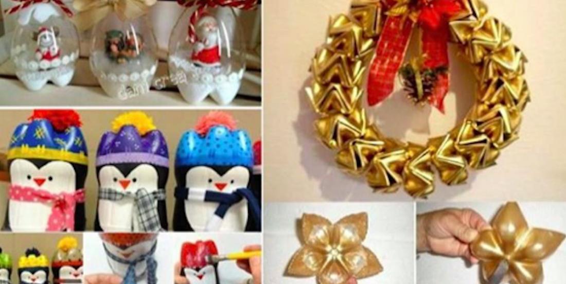 13 DIY Christmas decorations using old plastic bottles