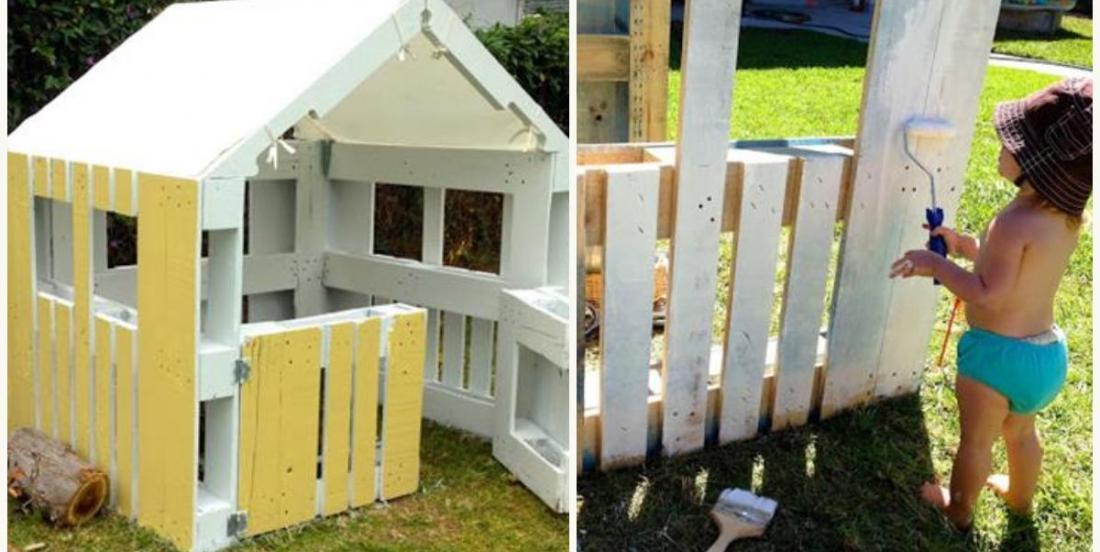 DIY: Make a playhouse with wooden pallets in 5 easy steps!