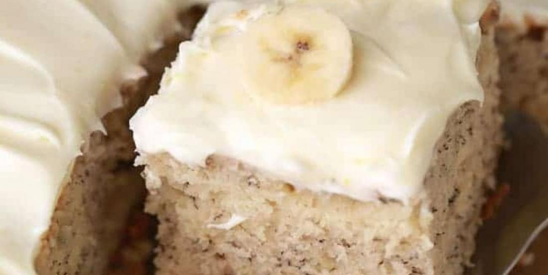 The best banana cake you will ever eat.