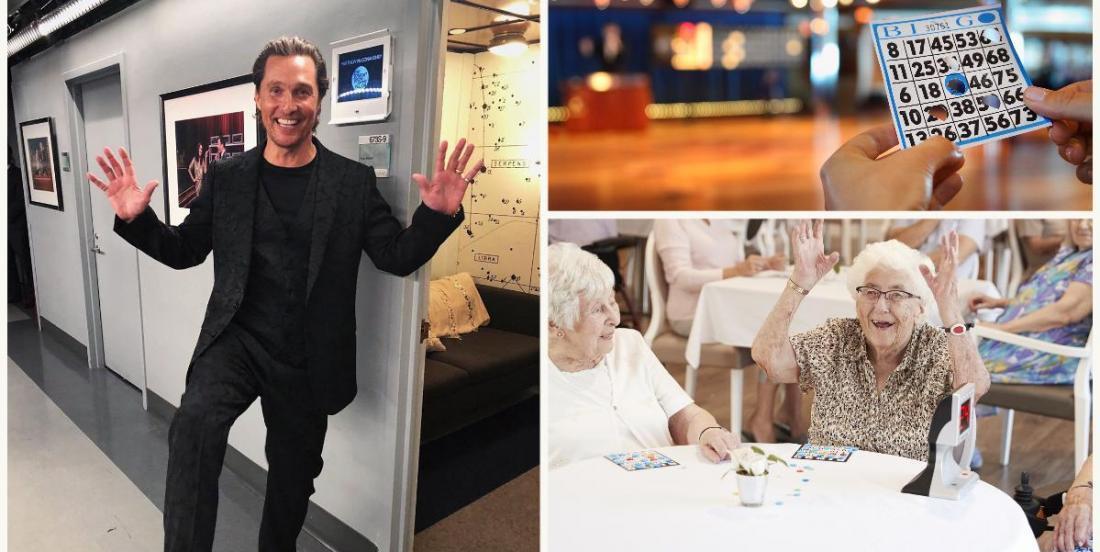Famous actor Matthew McConaughey hosted a virtual bingo seniors!