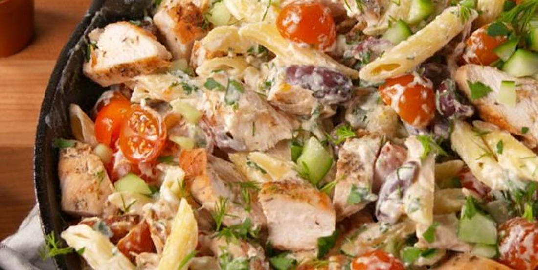 A delicious summery chicken pasta recipe.