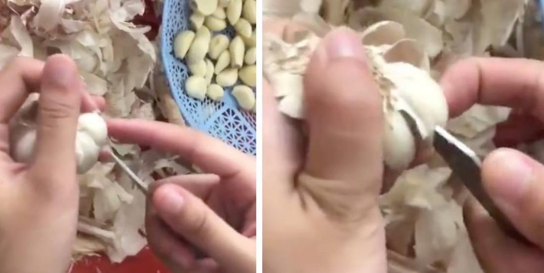 This is the best and easiest garlic peeling hack.