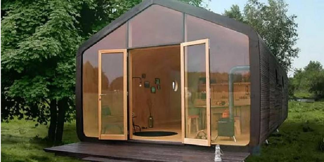 This small house is made with cardboard and can last up to 100 years!