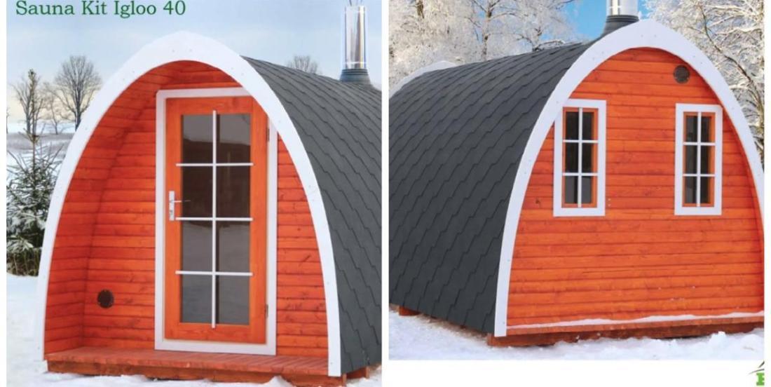 "You can buy an ""Igloo"" tiny sauna house on Amazon!"