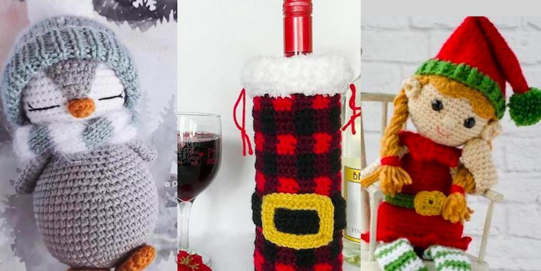 25 beautiful Christmas crochet decorations.