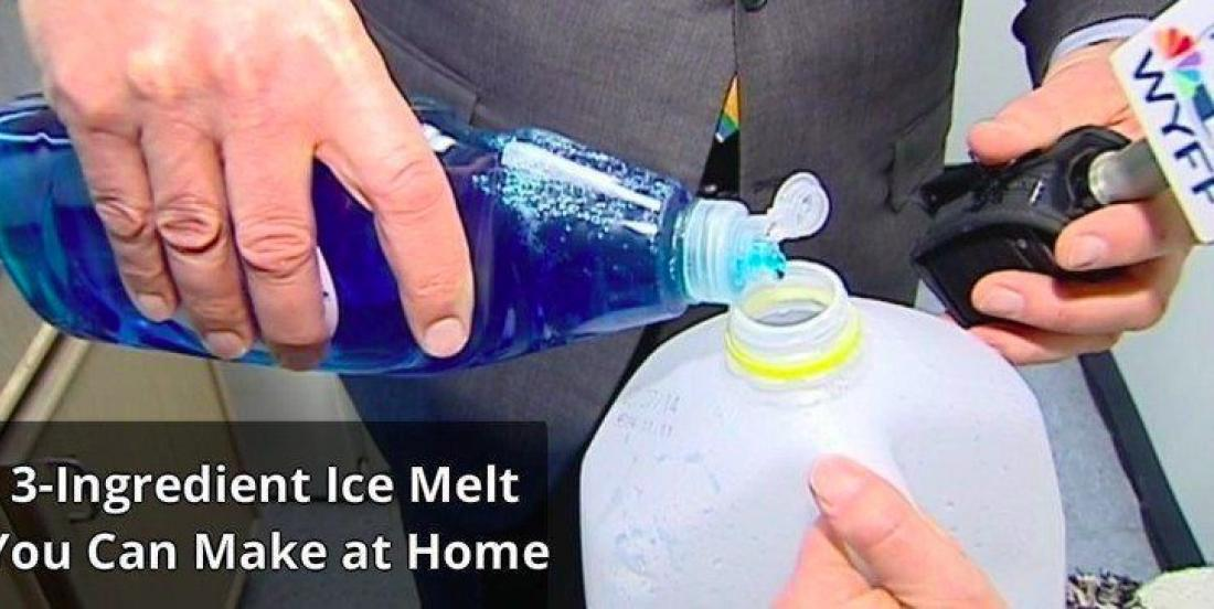 Make your own ice melt with this easy home recipe.