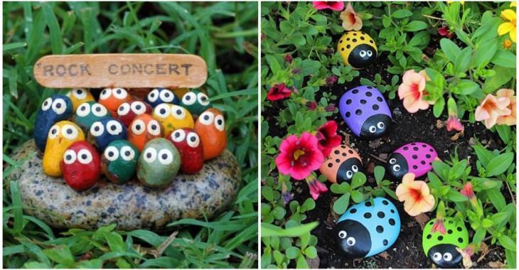 Paint little stones to make charming garden decorations - Decoration ...