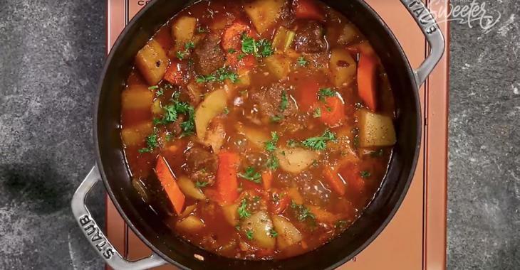 Comfort food: crock pot beef stew