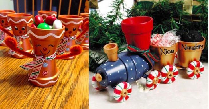 20 clay pot Christmas craft ideas