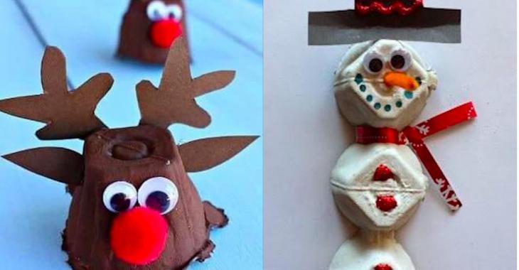 11 Christmas crafts to make with egg cartons